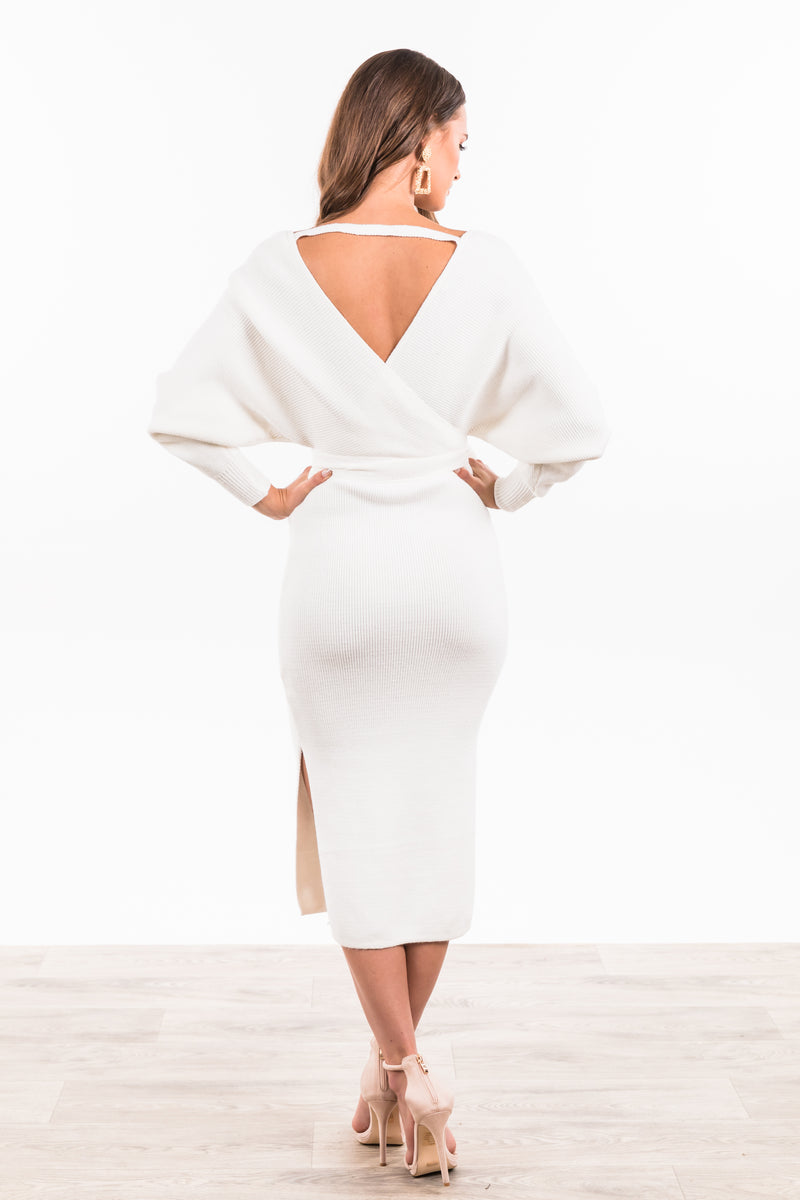 Juliette Maxi Knit Dress - White