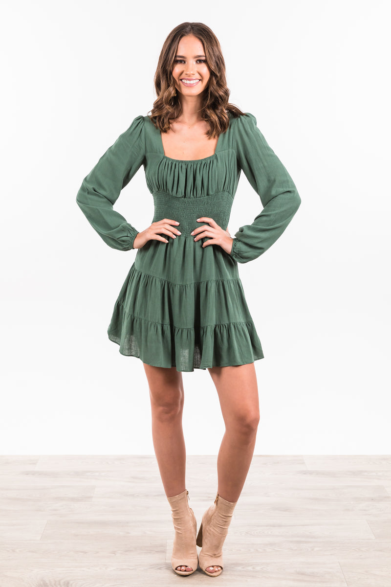 Alyssia Knit Dress - Forest Green