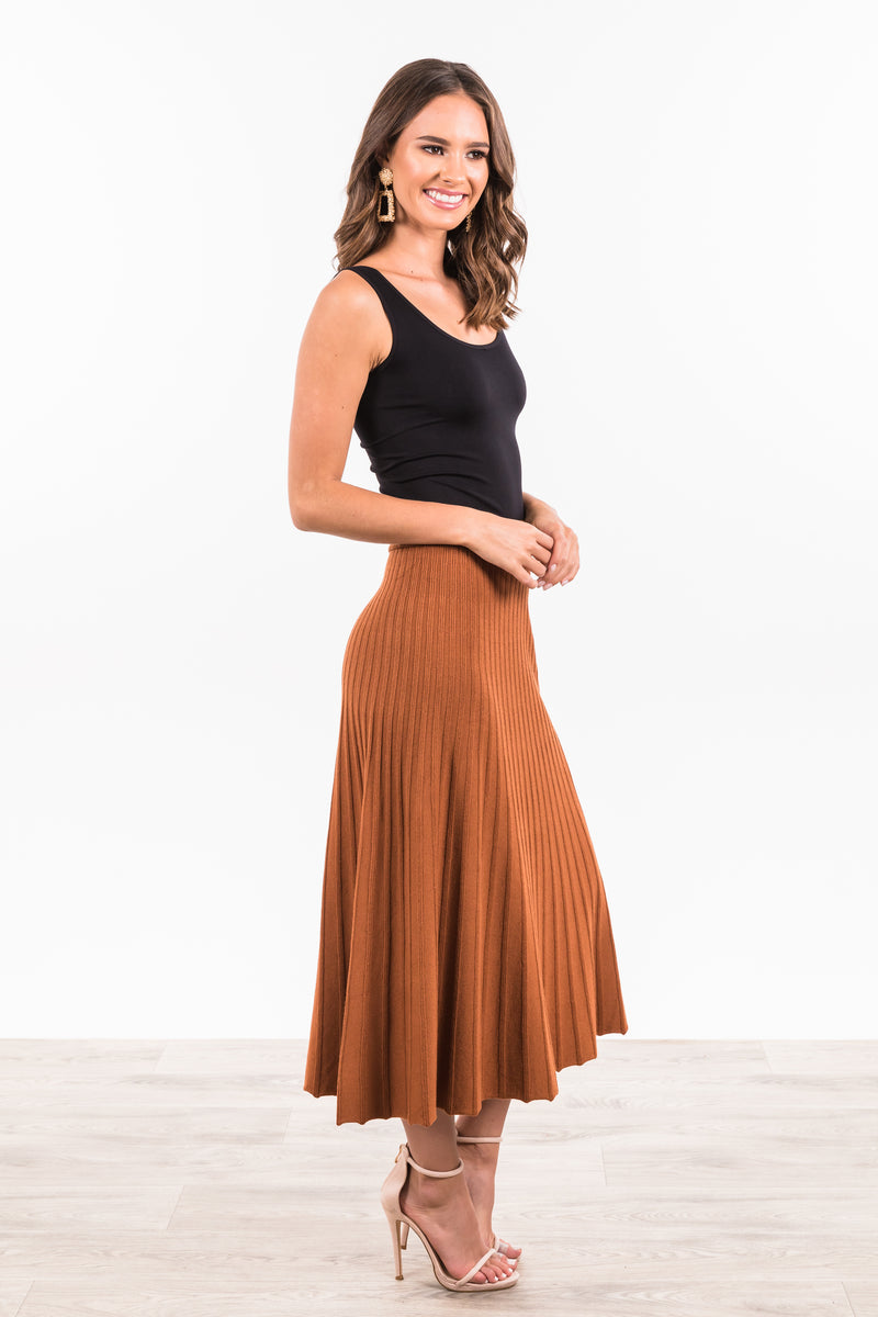 Greenwich Skirt - Rust