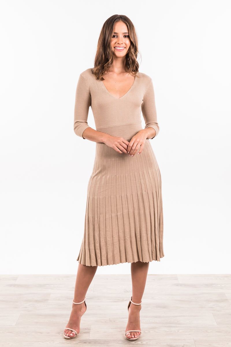 Vikki Dress - Beige