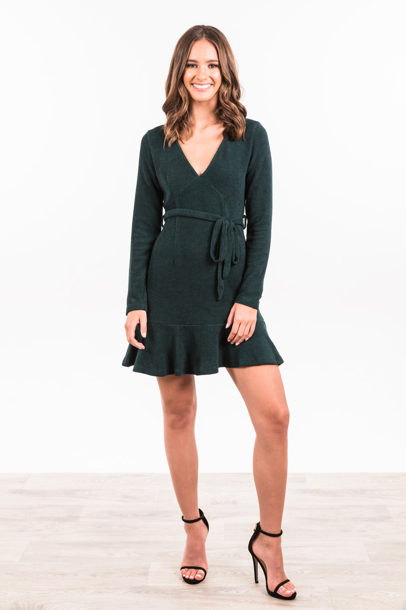 Salford Dress - Forest Green