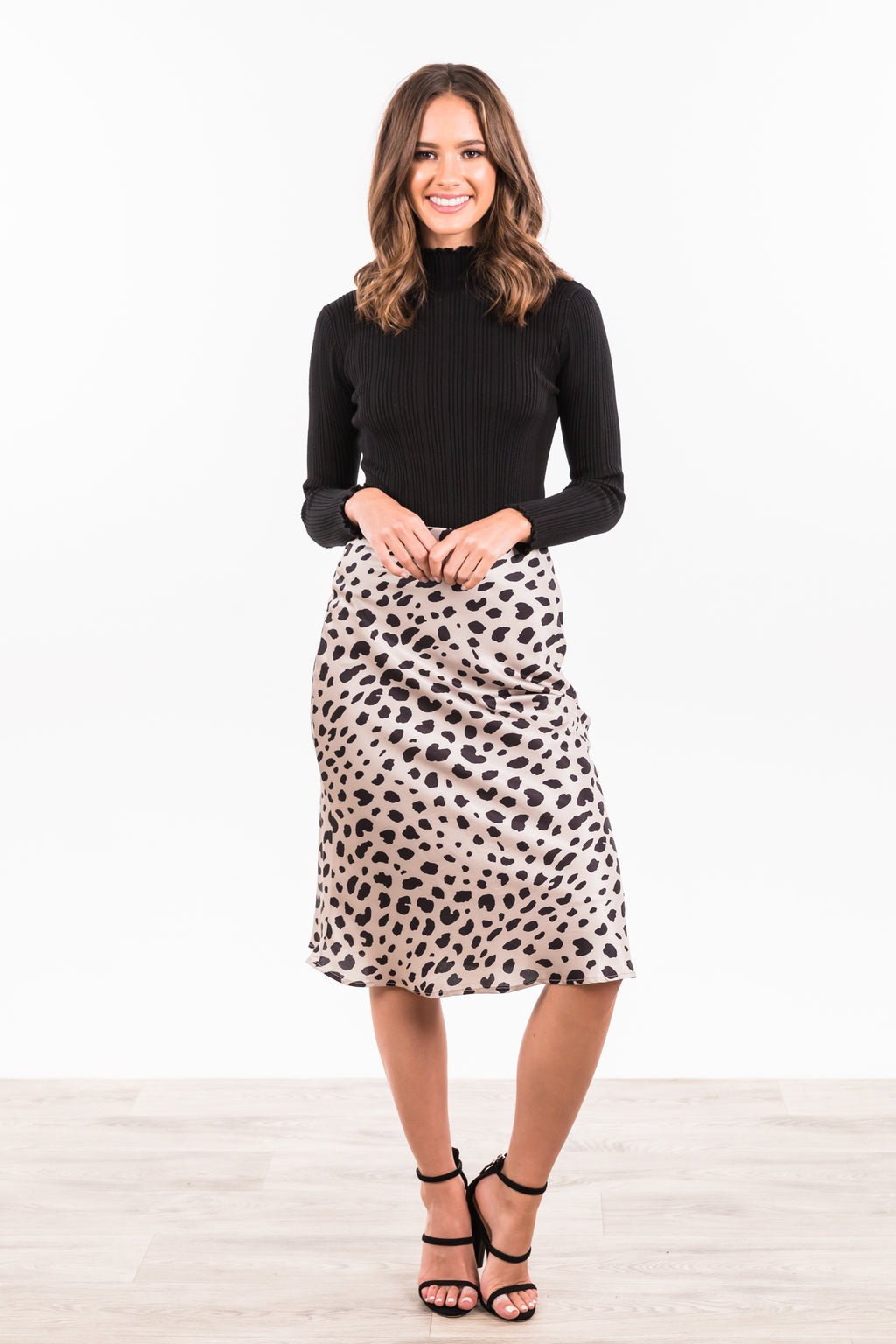 Cheetah Skirt - Beige