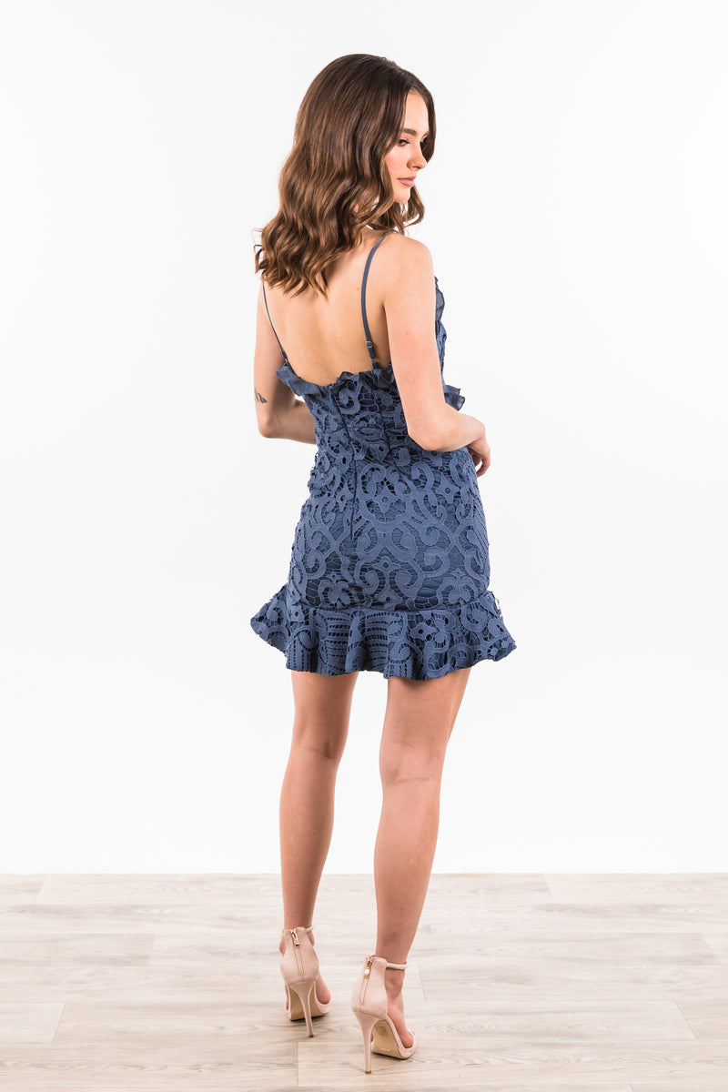 Florentino Dress - Midnight Blue
