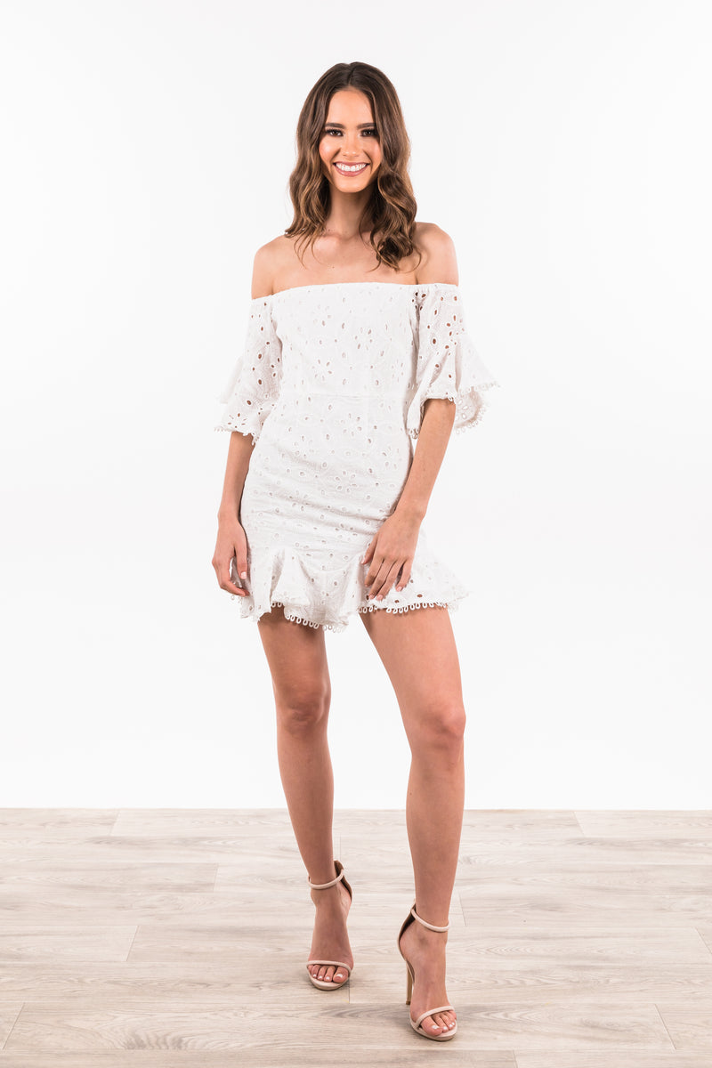 Franklin Dress - White