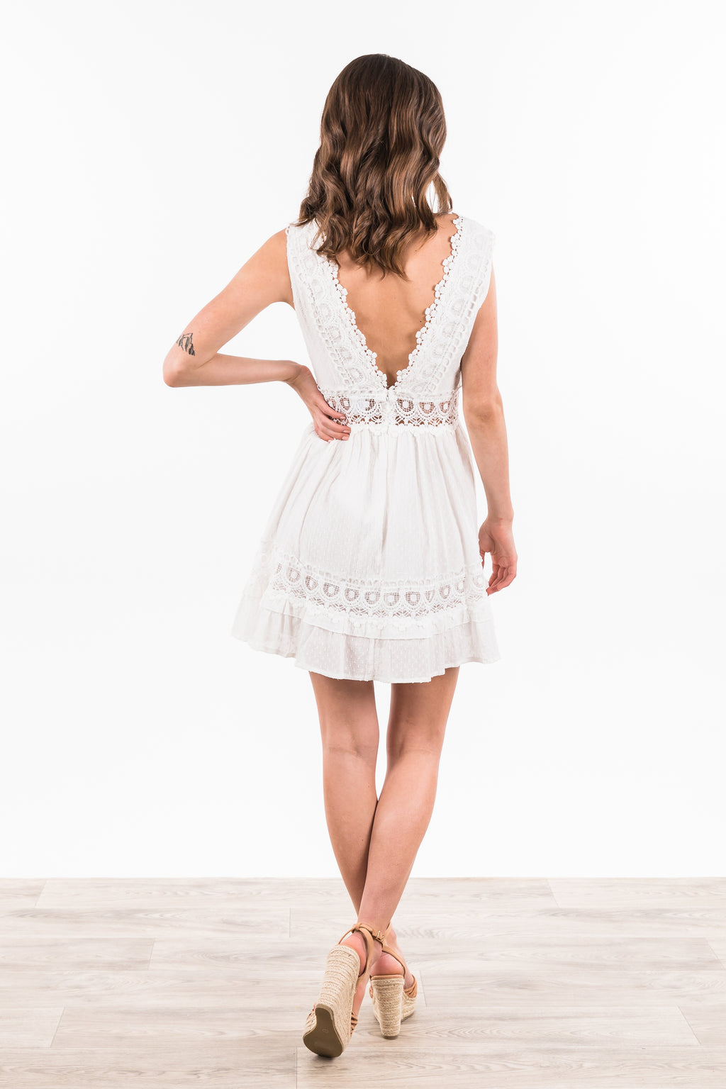 Kiku Dress - White