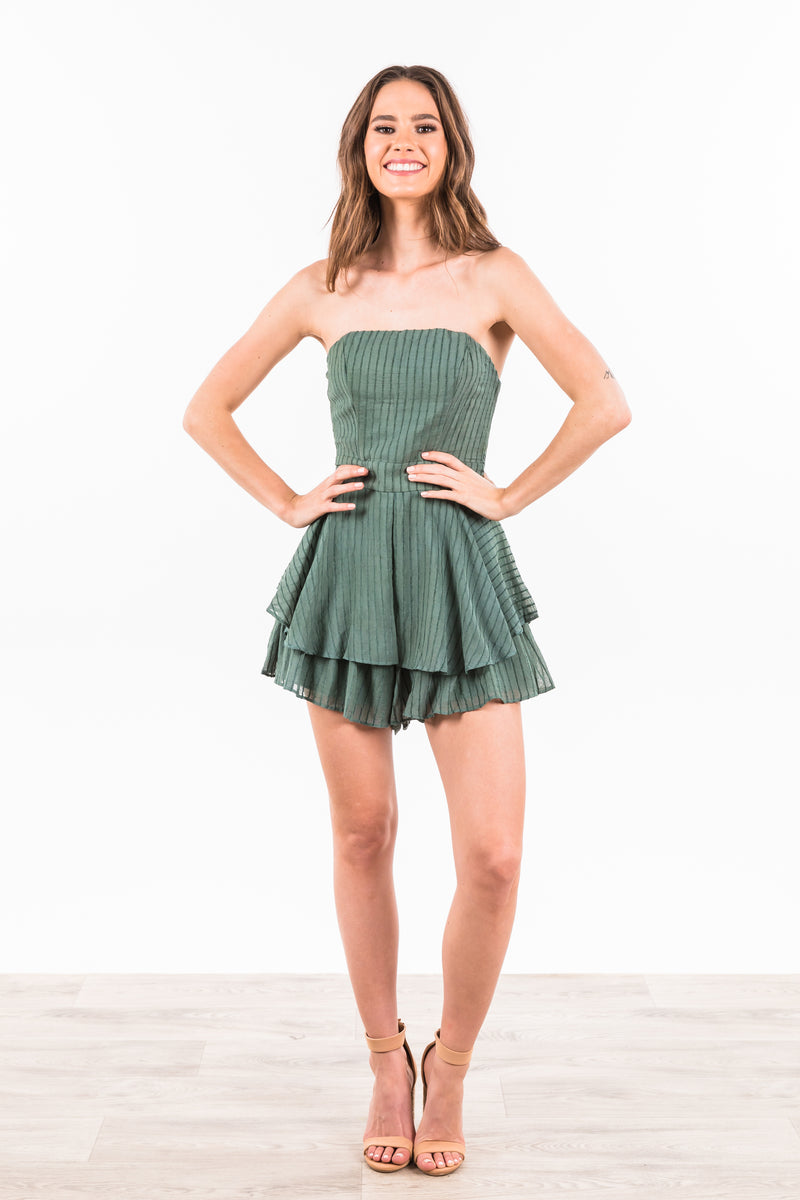 Makenna Playsuit - Green