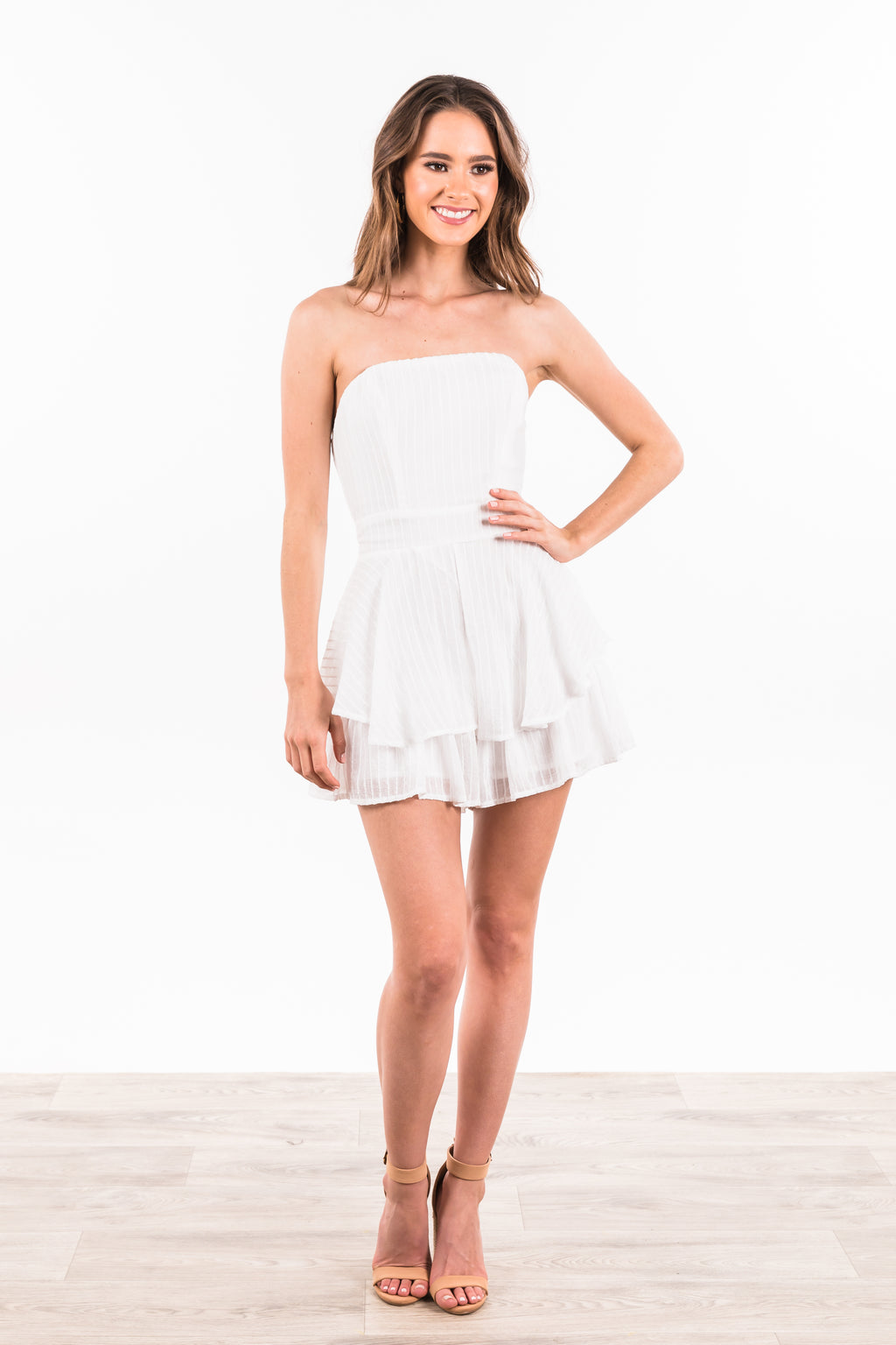 Makenna Playsuit - White