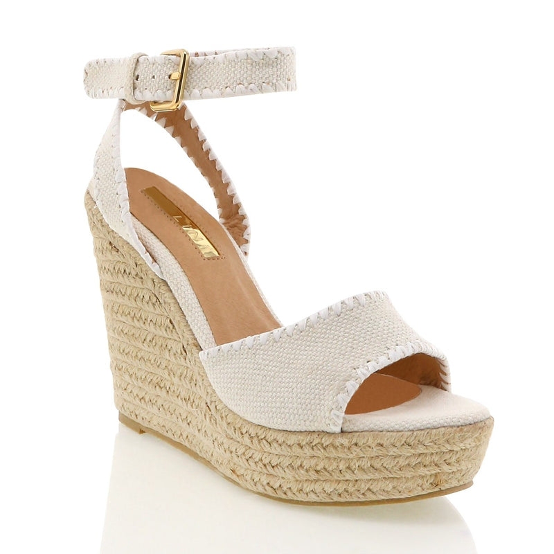 Billini Sasha Wedge - Beige Linen