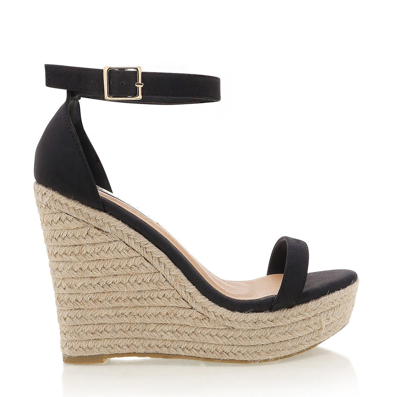 Billini Solange Wedge - Black Nubuck