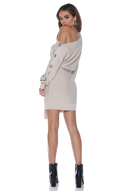Bella Knit Dress by Runaway - Natural