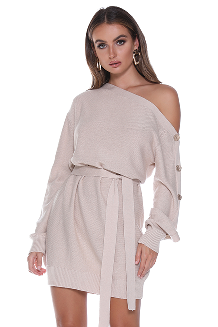 Valentina Knit Dress - Beige