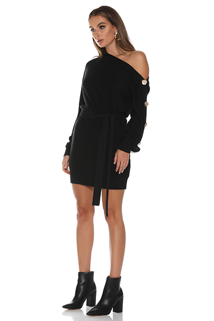 Bella Knit Dress by Runaway - Black