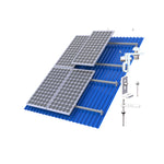 Tin Roof Mounting Structure Set - Wilkins Solar