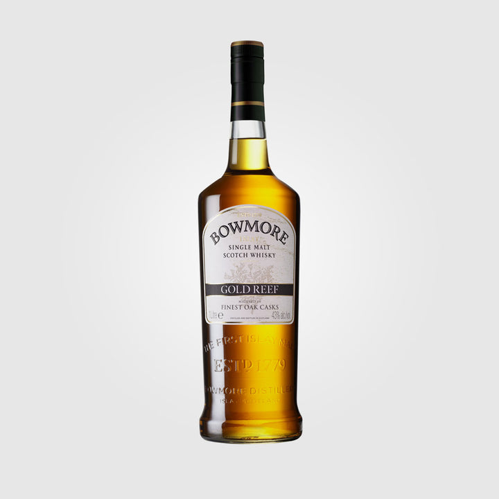 bowmore_scotch islay single malt whisky_gold reef_drunken stork