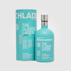 bruichladdich_scotch islay single malt whisky_the classic laddie scottish barley_drunken stork