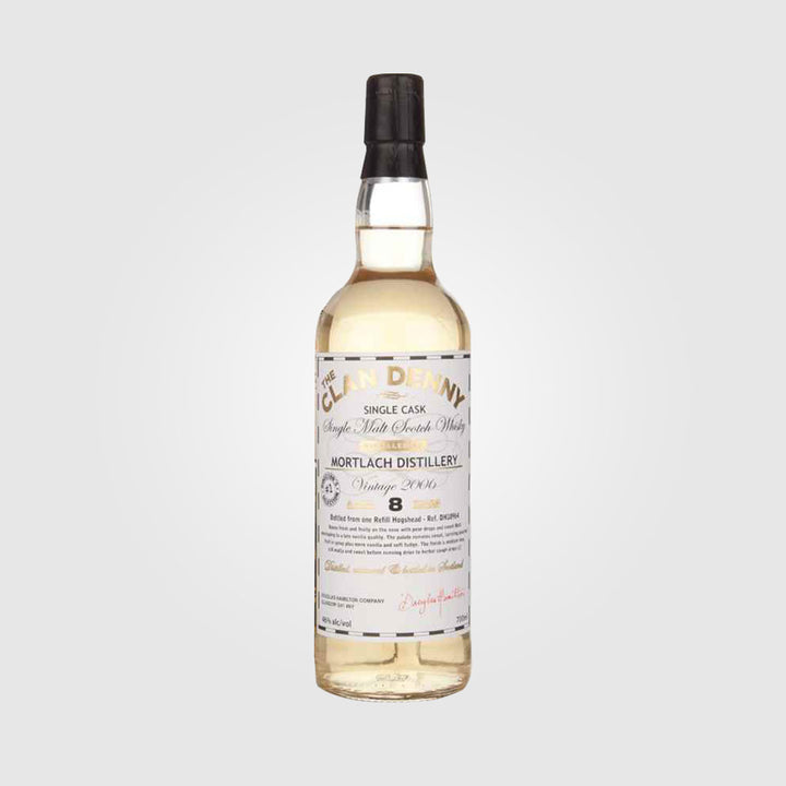 douglas laing_scotch speyside whisky_mortlach 8 year old 2006 the clan denny_drunken stork