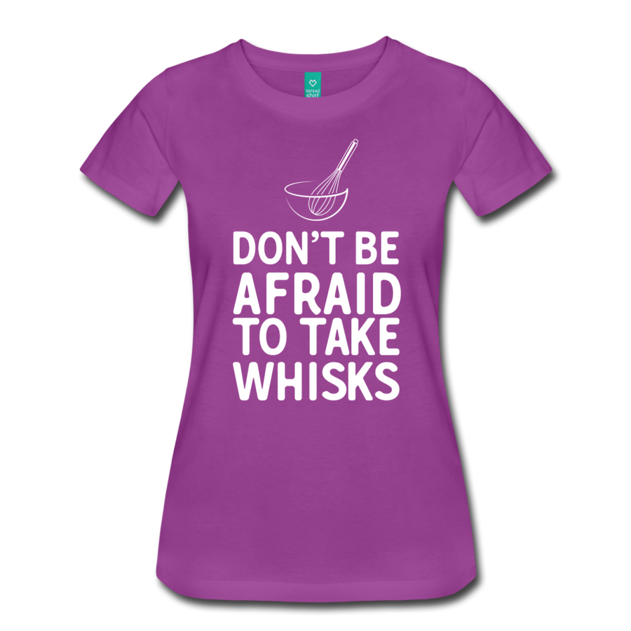 Don't be afraid to take whisks - light purple