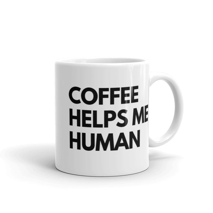 Coffee helps me human mug