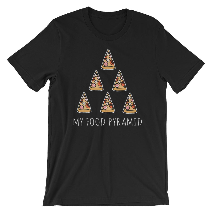 My Food Pyramid is Pizza T-Shirt