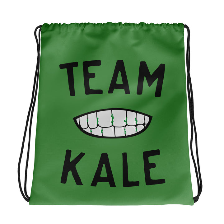 Team Kale Drawstring bag