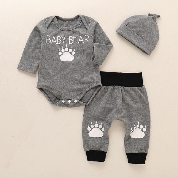 Baby Boy Bear Long Sleeve Polka Set