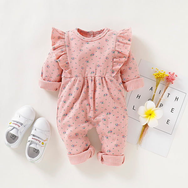 Baby Girl Long Sleeves Floral Romper