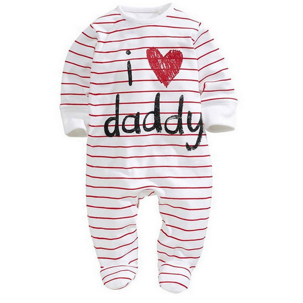 I Love Mummy/Daddy Letter Print Jumpsuit