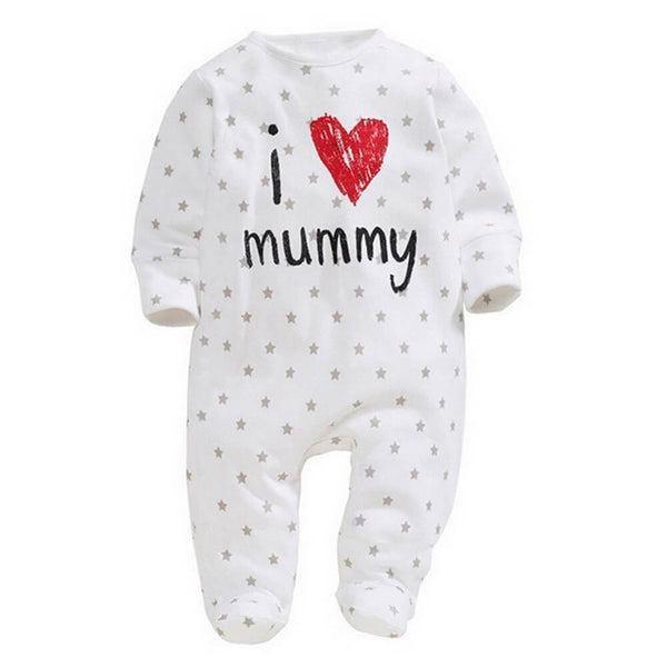 Baby/Toddler I Love Mummy/Daddy Letter Print Jumpsuit
