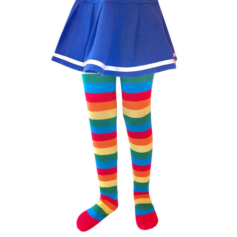 Rainbow Striped Girls Pantyhose Stockings