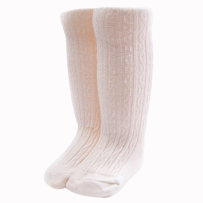 Casual Solid Knitted Cotton Stockings