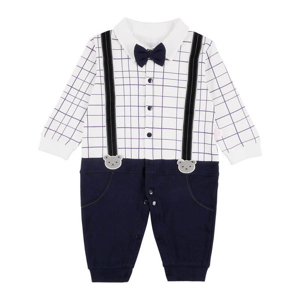Bow Tie Cut And Sew Button Through Jumpsuit