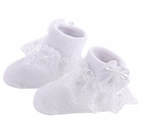 Baby/Toddler Girl Bow Lace Ruffle Socks