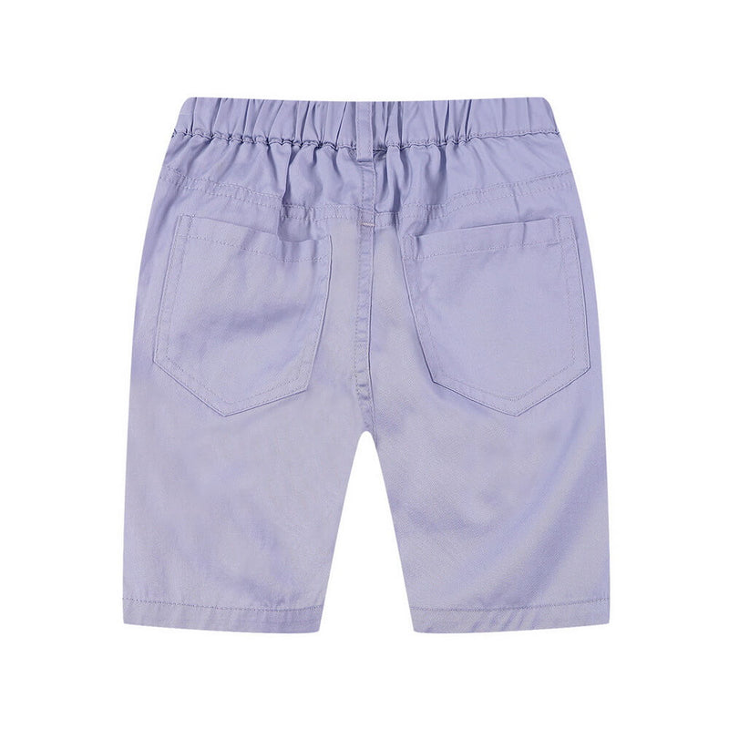 Toddler Boy Solid Pockets Elastic Waist Shorts