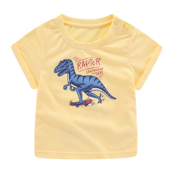 Toddler Boy Dinosaur Graphic Short Sleeve Top