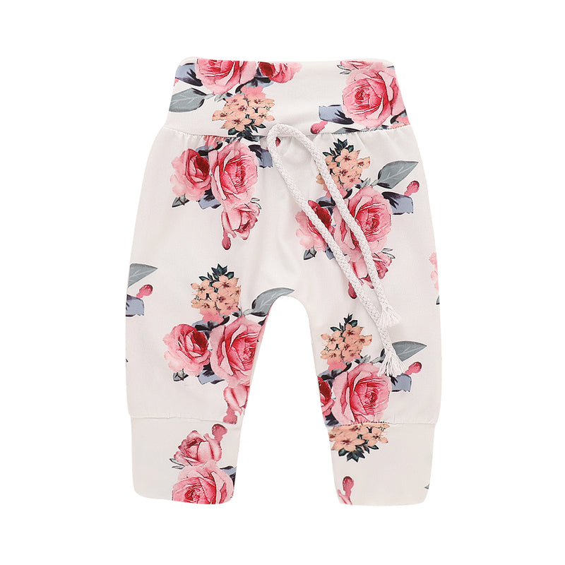Floral Kangaroo Pocket Hoodie & Pants Set