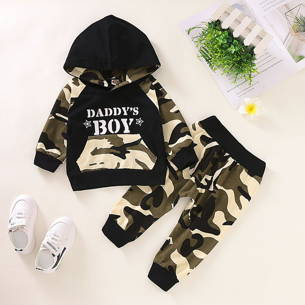 Camo Kangaroo Pocket Hoodie & Pants Set
