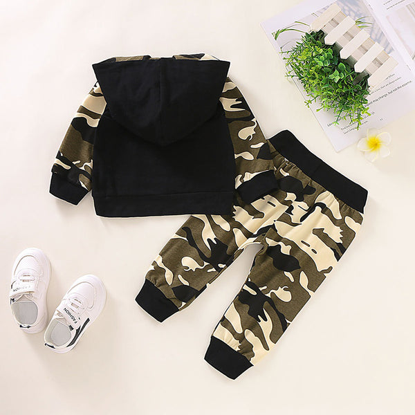 Baby Boy 2 Pieces Camouflage Hoodie Set