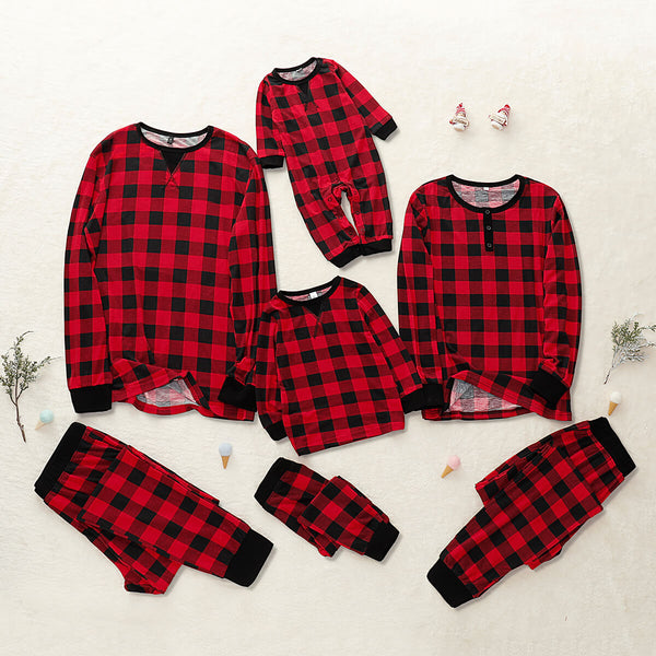 Classic Plaid Family Pajamas Set