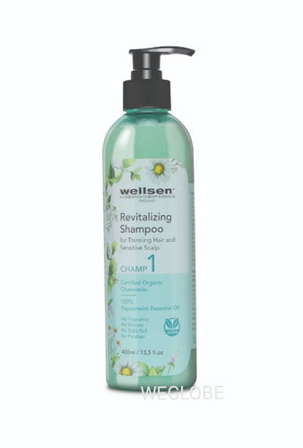 CHAMP 1 - Wellsen Chamomile and Peppermint Revitalizing Shampoo for Thinning Hair & Sensitive Scalp