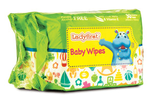 Ladyfirst Hipopo Baby Wipes with Fragrance (30's Twin Pack)