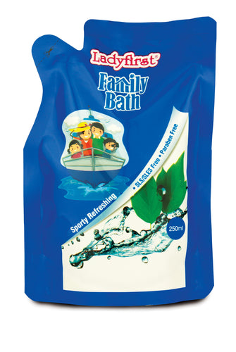 Ladyfirst Family Bath Sporty Refreshing Refill Pack