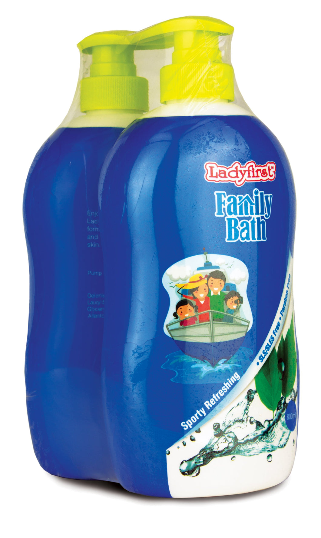 Ladyfirst Family Bath Sporty Refreshing Twin Pack