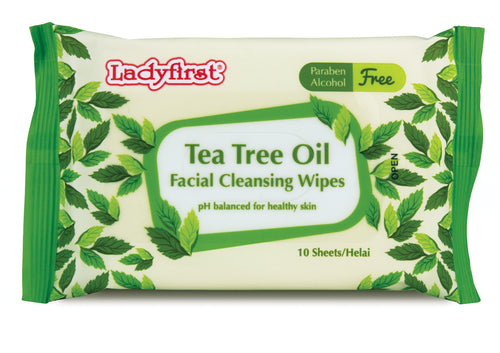 Ladyfirst Tea Tree Facial Cleansing Wipes
