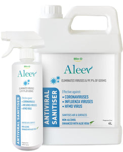 BIO D Aleev Antiviral Sanitizer Kit For Air and Surfaces 4 Liter free 500ML