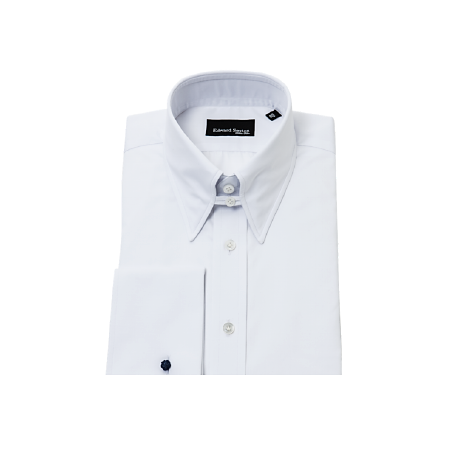 White Slim-Fit Tab Collar Shirt