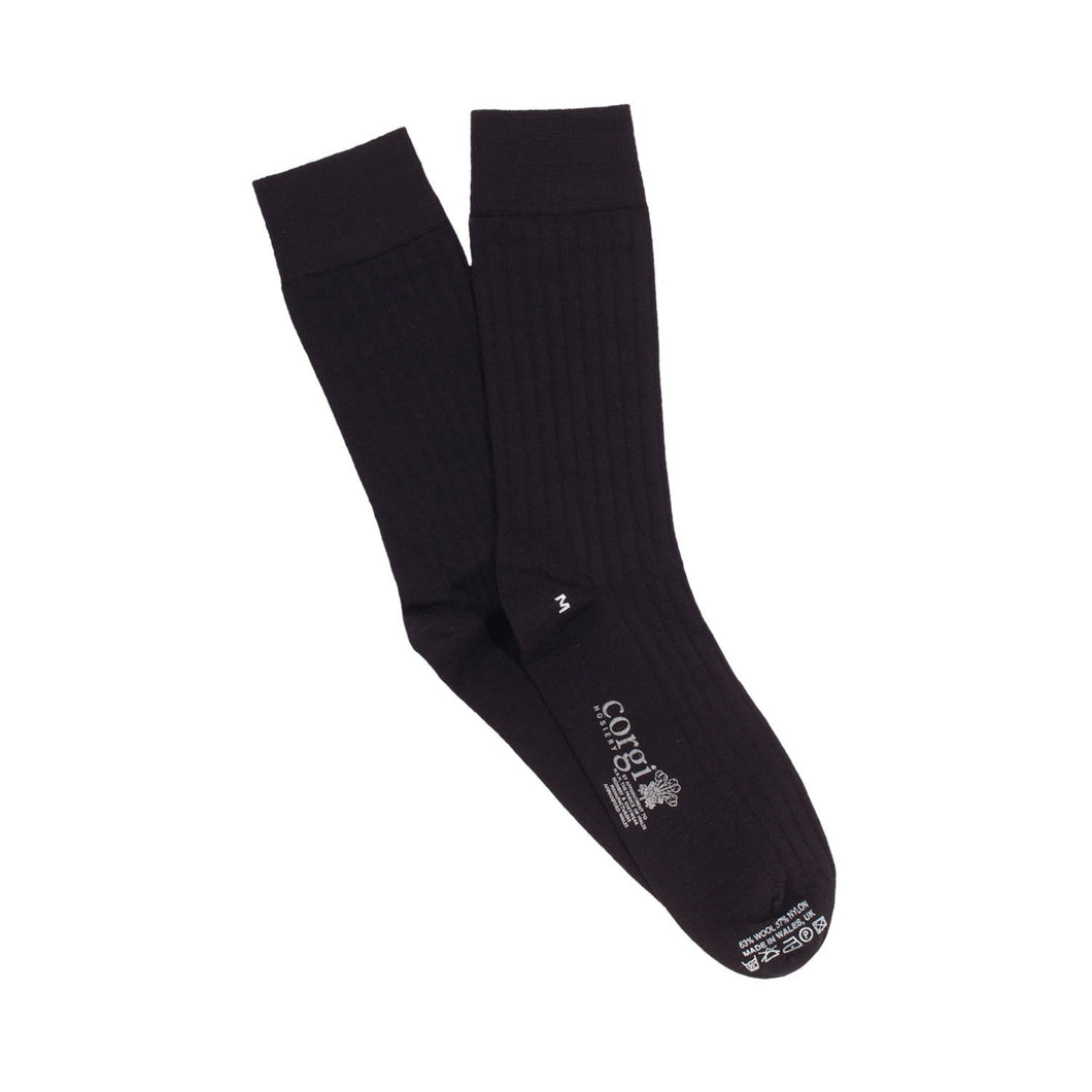 Plain Black Socks