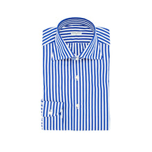 Load image into Gallery viewer, Navy Striped Cotton Shirt