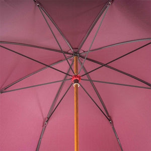 Umbrella with Braided Leather Handle