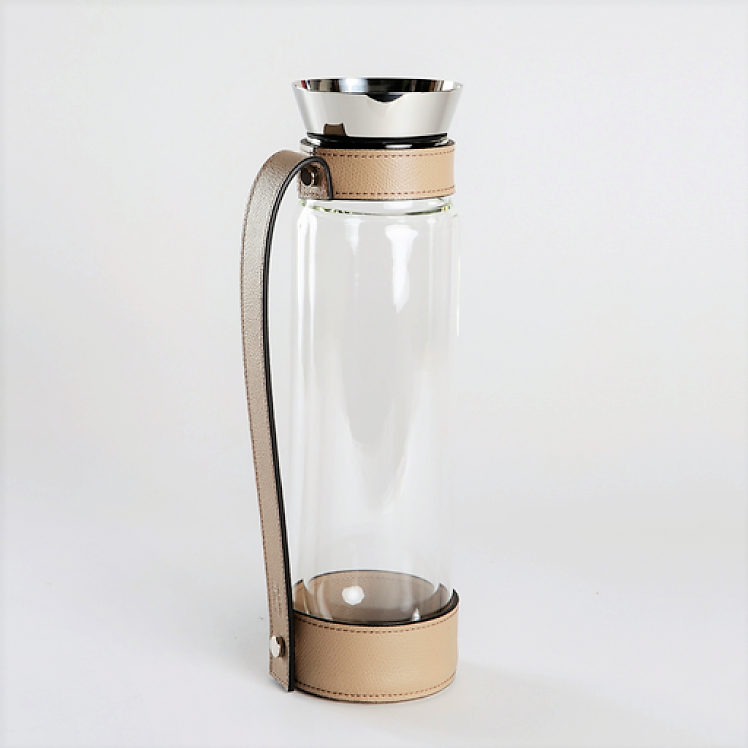 Thermal Carafe with Leather Tray