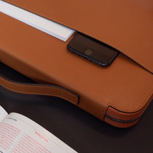 Load image into Gallery viewer, Leather Laptop Bag